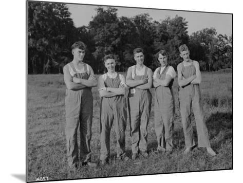 Winning Push Ball Team at a Company Picnic, 1919--Mounted Photographic Print