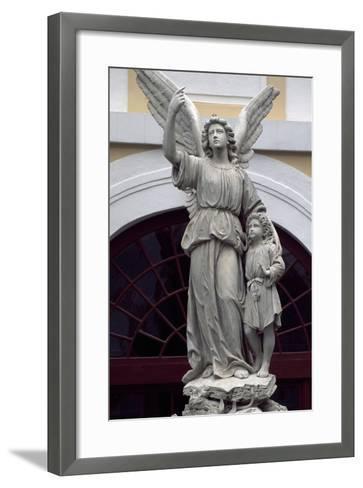 Statue from Kromeriz Archbishop's Palace--Framed Art Print