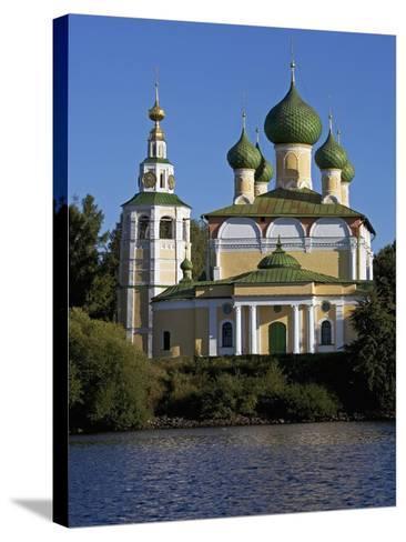The Volga and Kremlin--Stretched Canvas Print