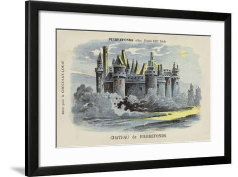 Chateau De Pierrefonds, Pierrefonds, Oise--Framed Art Print