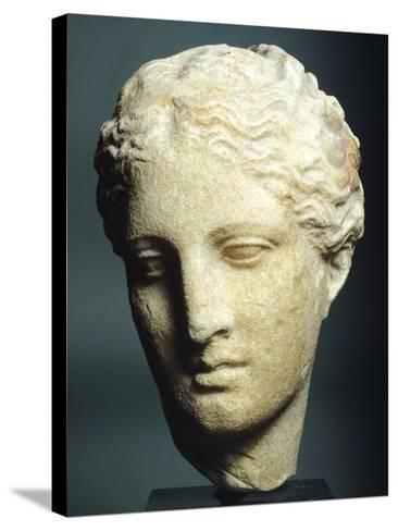 Head of Atalanta--Stretched Canvas Print