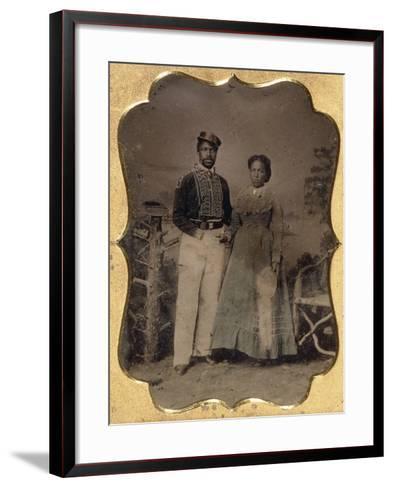 Fireman and Bride, C.1860--Framed Art Print