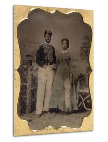 Fireman and Bride, C.1860--Metal Print