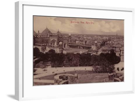 Bird'S-Eye View, Agra City--Framed Art Print