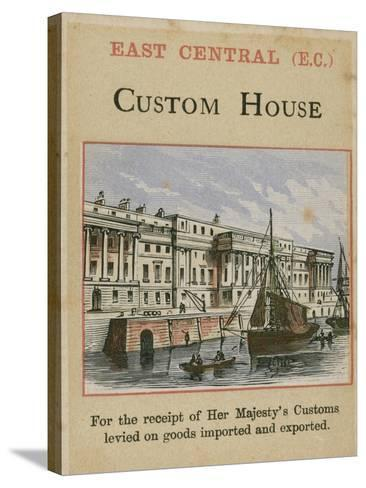 Custom House--Stretched Canvas Print