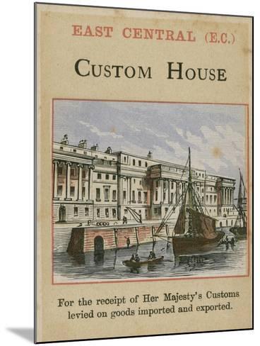 Custom House--Mounted Giclee Print
