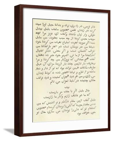 A Page from a Persian Grammar--Framed Art Print
