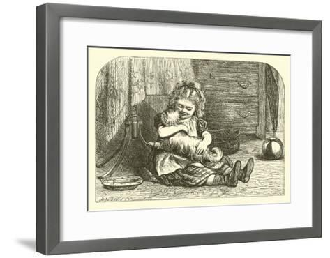 I Had a Little Doggy--Framed Art Print