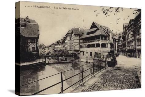 Postcard Depicting the Rue Du Bain-Aux-Plantes--Stretched Canvas Print