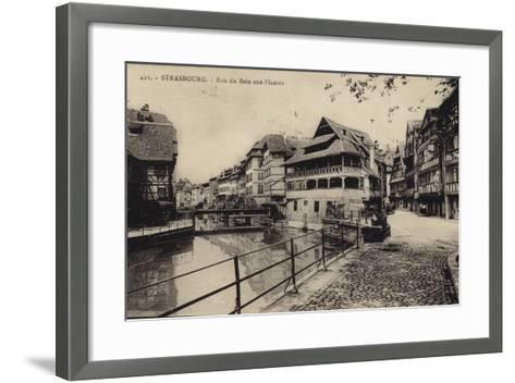 Postcard Depicting the Rue Du Bain-Aux-Plantes--Framed Art Print