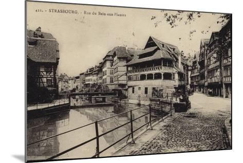Postcard Depicting the Rue Du Bain-Aux-Plantes--Mounted Photographic Print
