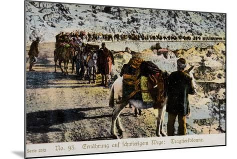 Mule Train on a Mountain Road--Mounted Photographic Print