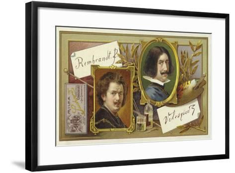 Rembrandt Van Rijn and Diego Velasquez--Framed Art Print