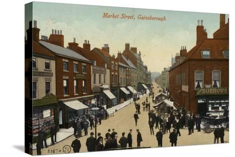Market Street, Gainsborough--Stretched Canvas Print