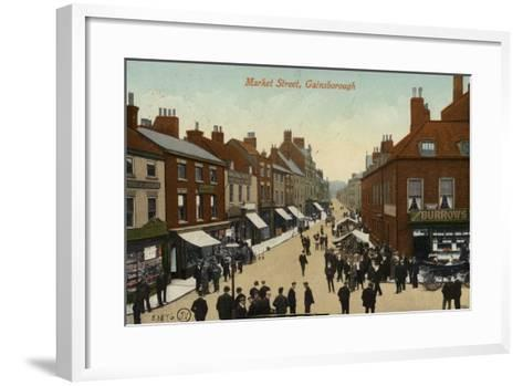 Market Street, Gainsborough--Framed Art Print