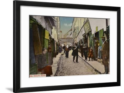 Street in the Jewish Quarter, Vilnius--Framed Art Print