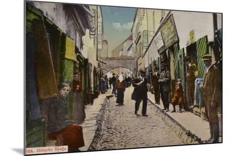 Street in the Jewish Quarter, Vilnius--Mounted Photographic Print