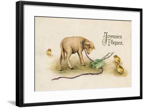 French Easter Card--Framed Art Print