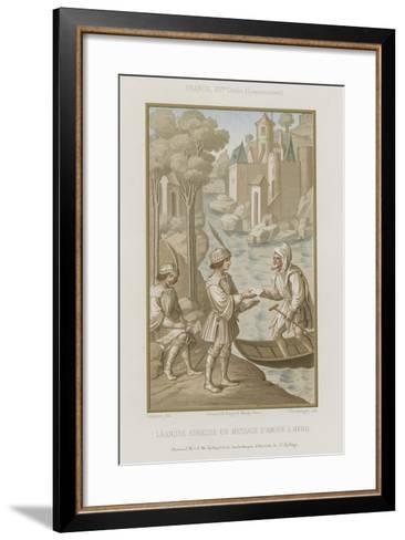 Leander Sends a Message of Love to Hero--Framed Art Print