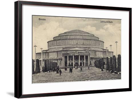 Postcard Depicting the Centennial Hall--Framed Art Print