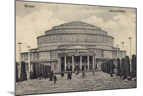 Postcard Depicting the Centennial Hall--Mounted Photographic Print
