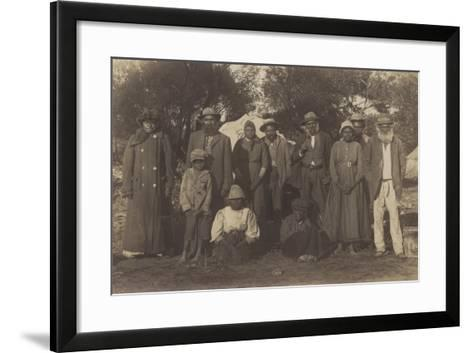 Group of Maori People--Framed Art Print