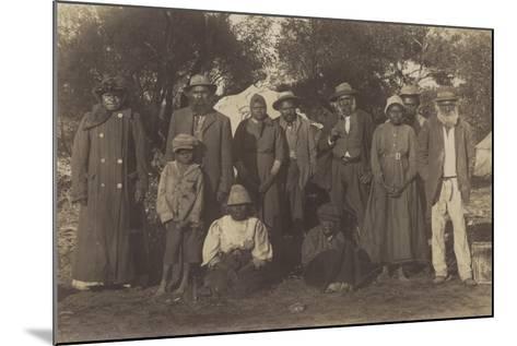 Group of Maori People--Mounted Photographic Print