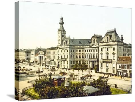 Warsaw Town Hall, 1890-1900--Stretched Canvas Print