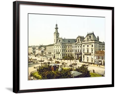 Warsaw Town Hall, 1890-1900--Framed Art Print