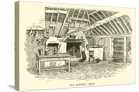 Inn Kitchen, Kent-Alfred Robert Quinton-Stretched Canvas Print