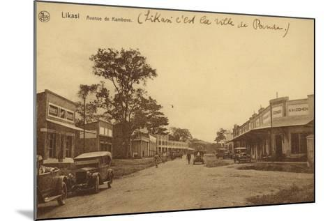 Likasi - Avenue De Kambove--Mounted Photographic Print