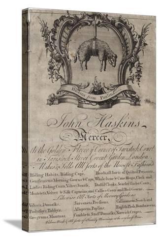 Mercer, John Haskins, Trade Card--Stretched Canvas Print
