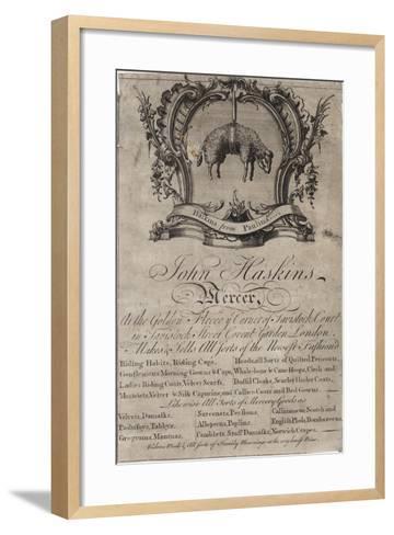 Mercer, John Haskins, Trade Card--Framed Art Print