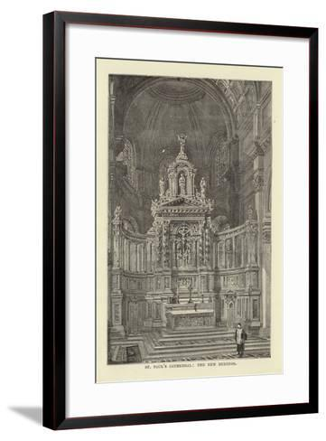 St Paul's Cathedral, the New Reredos--Framed Art Print