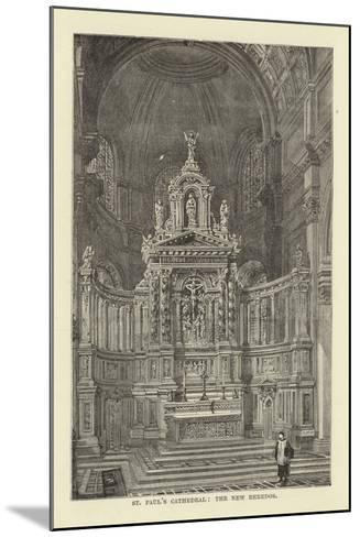 St Paul's Cathedral, the New Reredos--Mounted Giclee Print