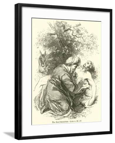 The Good Samaritan, Luke, X, 25, 37--Framed Art Print