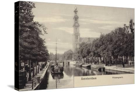 Postcard Depicting the Prinsengracht--Stretched Canvas Print