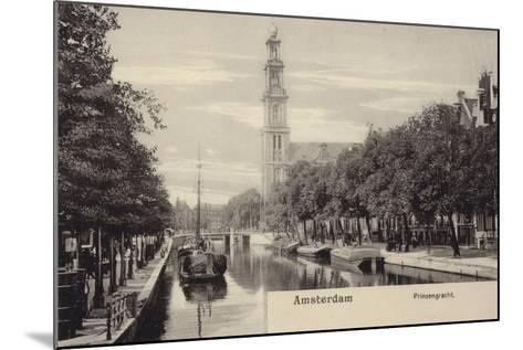 Postcard Depicting the Prinsengracht--Mounted Photographic Print