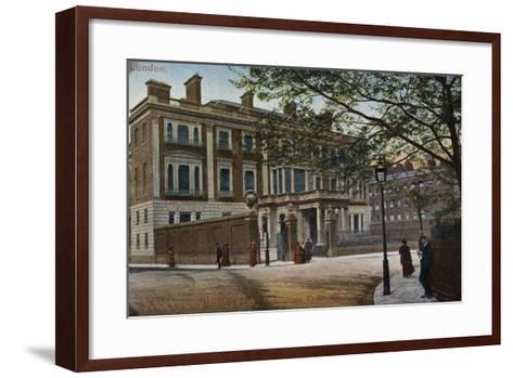 Hertford House in Manchester Square--Framed Art Print