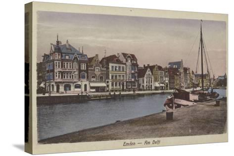 Waterfront, Emden, Germany--Stretched Canvas Print