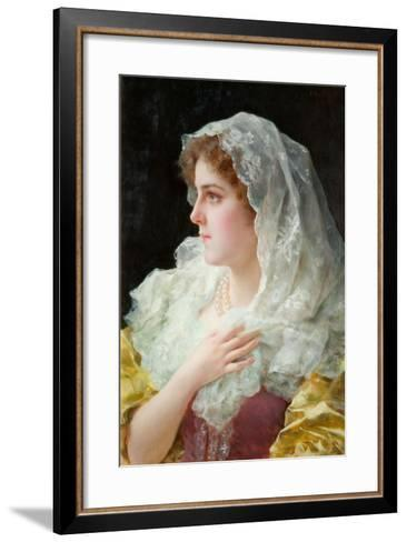 An English Beauty-Federigo Andreotti-Framed Art Print