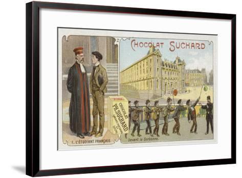 The French Student--Framed Art Print