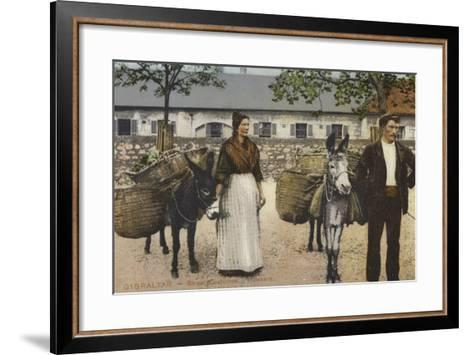 Street Costumes and Hawkers, Gibraltar--Framed Art Print