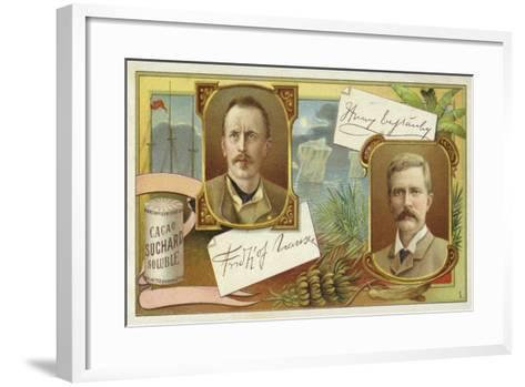 Fridtjof Nansen and Henry Morton Stanley--Framed Art Print