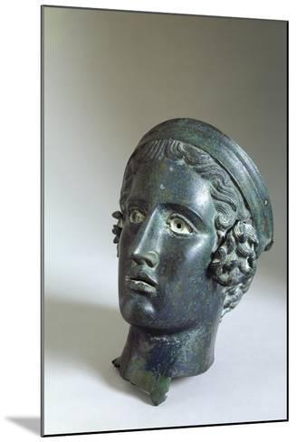 Male Head with Helmet, Bronze from Cagli--Mounted Giclee Print
