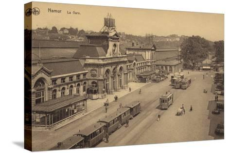 Postcard Depicting the Railway Station in Namur--Stretched Canvas Print