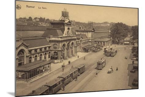 Postcard Depicting the Railway Station in Namur--Mounted Photographic Print