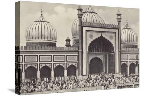 The Jumma Musjid, Delhi--Stretched Canvas Print