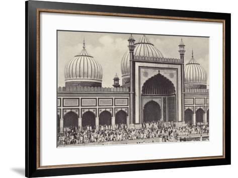 The Jumma Musjid, Delhi--Framed Art Print