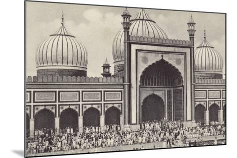 The Jumma Musjid, Delhi--Mounted Photographic Print